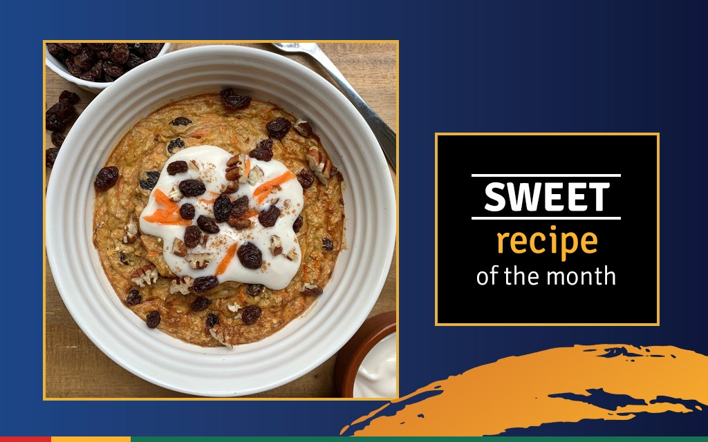 carrot cake baked oatswith south african raisins-web